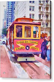 San Francisco Trams 7 Acrylic Print by Yury Malkov