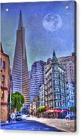 San Francisco Transamerica Pyramid And Columbus Tower View From North Beach Acrylic Print