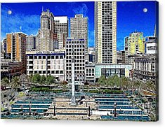 San Francisco Union Square 5d17938 Artwork Acrylic Print by Wingsdomain Art and Photography