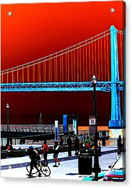 Acrylic Print featuring the photograph San Francisco Unique Processing by Maggy Marsh