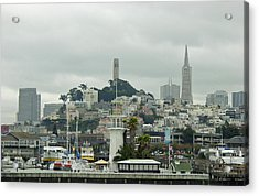 San Francisco View From Fishermans Wharf Acrylic Print by Suzanne Gaff