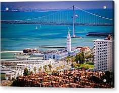 San Francisco Waterfront Acrylic Print by Celso Diniz