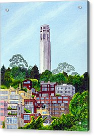 San Francisco's Coit Tower Acrylic Print