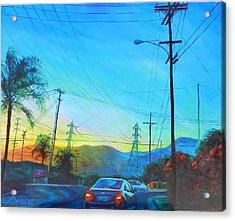 San Gabriel Rush Acrylic Print by Bonnie Lambert