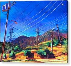 San Gabriel Power Acrylic Print by Bonnie Lambert