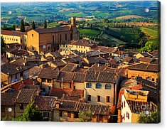 San Gimignano From Above Acrylic Print by Inge Johnsson