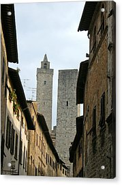 Acrylic Print featuring the photograph San Gimignano Italy by Victoria Lakes