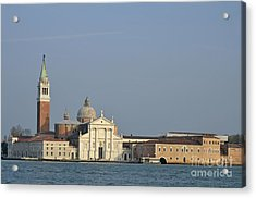 San Giorgio Maggiore Church And Canal Acrylic Print by Sami Sarkis