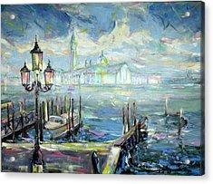 San Giorgio Maggiore In Sky Blue Acrylic Print by Zofia  Kijak
