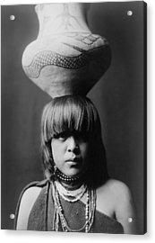 San Ildefonso Girl Circa 1927 Acrylic Print by Aged Pixel
