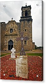 San Jose Mission Crosses Acrylic Print by Andy Crawford