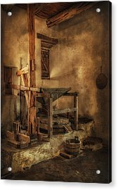 Acrylic Print featuring the photograph San Jose Mission Mill by Priscilla Burgers