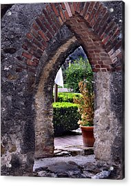 San Jose Mission View To The Past Acrylic Print by Ed Golden