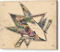 San Jose Sharks Hockey Poster Acrylic Print