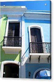 San Juan Balconies Acrylic Print
