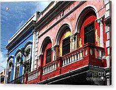 San Juan Balcony Acrylic Print by John Rizzuto