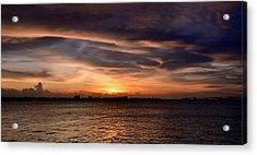 Acrylic Print featuring the photograph San Juan Bay by Ricardo J Ruiz de Porras