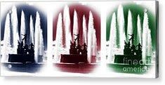 San Juan Fountain Colors Acrylic Print by John Rizzuto