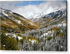 San Juan Mountains After Recent Snowstorm Acrylic Print by Jetson Nguyen