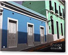 San Juan Street Colors Acrylic Print by John Rizzuto