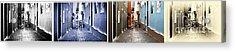 San Juan Tones Collage Acrylic Print by John Rizzuto