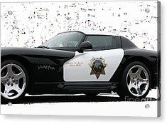 San Luis Obispo County Sheriff Viper Patrol Car Acrylic Print
