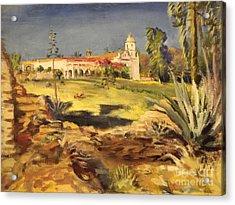 San Luis Rey Mission 1947 Acrylic Print