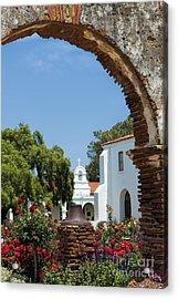 San Luis Rey - Mission Church Acrylic Print by Sandra Bronstein