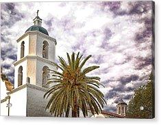San Luis Rey Mission Acrylic Print by James David Phenicie