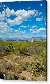 San Manuel Stacks Acrylic Print by T C Brown