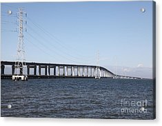 San Mateo Bridge In The California Bay Area 5d21889 Acrylic Print by Wingsdomain Art and Photography