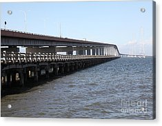 San Mateo Bridge In The California Bay Area 5d21892 Acrylic Print by Wingsdomain Art and Photography