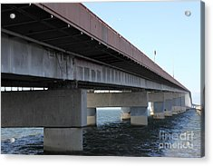 San Mateo Bridge In The California Bay Area 5d21897 Acrylic Print by Wingsdomain Art and Photography