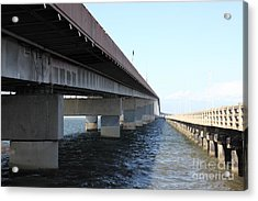 San Mateo Bridge In The California Bay Area 5d21898 Acrylic Print by Wingsdomain Art and Photography
