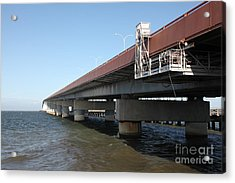 San Mateo Bridge In The California Bay Area 5d21900 Acrylic Print by Wingsdomain Art and Photography
