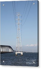 San Mateo Bridge In The California Bay Area 5d21909 Acrylic Print by Wingsdomain Art and Photography