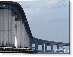 San Mateo Bridge In The California Bay Area 7d21914 Acrylic Print by Wingsdomain Art and Photography