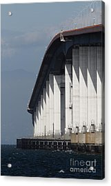 San Mateo Bridge In The California Bay Area 7d21935 Acrylic Print by Wingsdomain Art and Photography