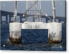 San Mateo Bridge In The California Bay Area 7d21943 Acrylic Print by Wingsdomain Art and Photography