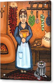 San Pascual Bad Kitty Acrylic Print by Victoria De Almeida