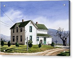 San Pasquale House Acrylic Print by Mary Helmreich