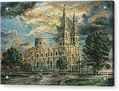 San Sebastian Church 1800s Acrylic Print by Joey Agbayani