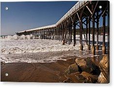 Acrylic Print featuring the photograph San Simeon Pier by Lee Kirchhevel