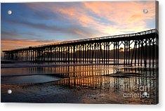 Acrylic Print featuring the photograph San Simeon Pier by Vivian Christopher