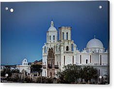San Xavier Del Bac At Moonset 1 Acrylic Print