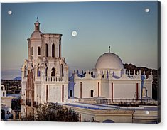 San Xavier Del Bac At Moonset 2 Acrylic Print