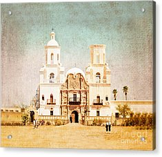 San Xavier Del Bac Mission Acrylic Print by Marianne Jensen