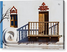 Acrylic Print featuring the photograph San Xavier Swirl by Beverly Parks
