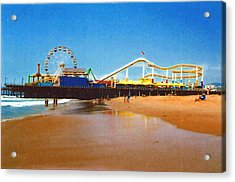 Sana Monica Pier Acrylic Print by Daniel Thompson