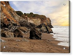 Sand And Rocks Acrylic Print